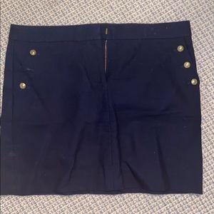 Navy Jcrew Mini Skirt